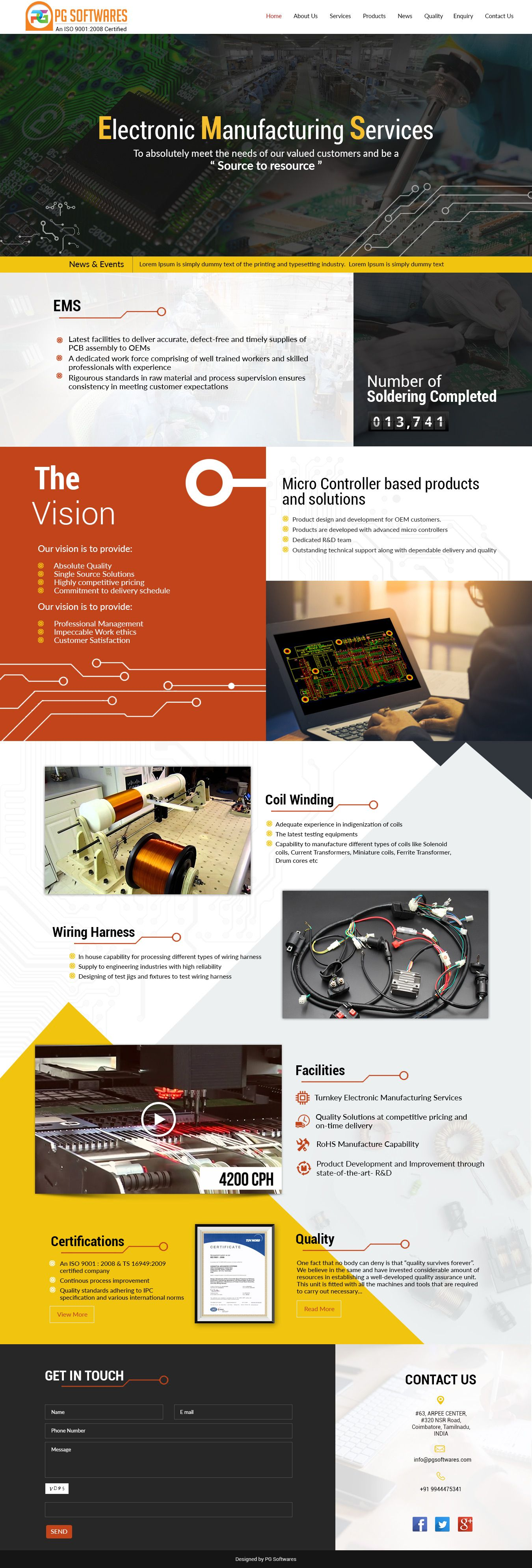 Electronic Manufacturing Responsive Website Template Electronic Manufacture Theme Template R Responsive Website Template Web Design Corporate Web Design