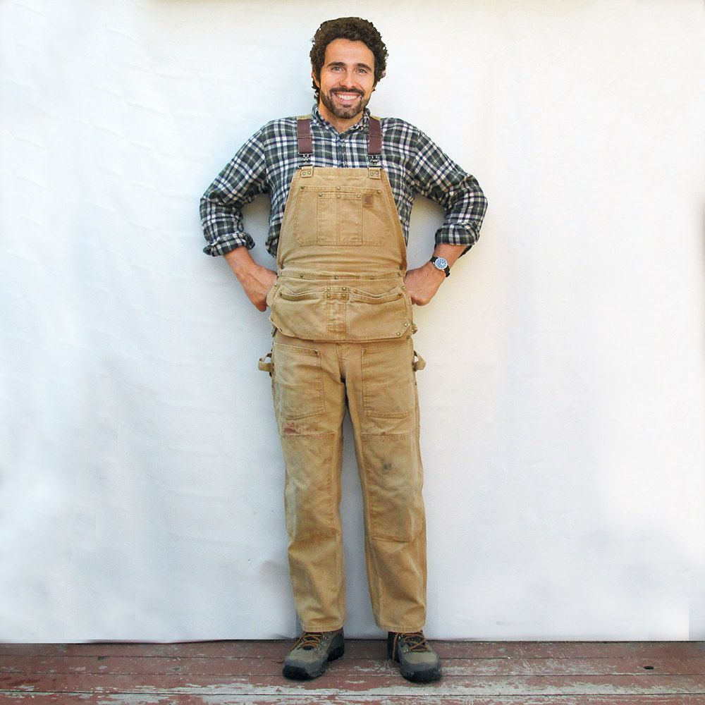 c1b270616804 Vintage Big Bill Duck Cloth Carpenters Bib Overalls - Men s 34 32 by  leapinglemming on Etsy