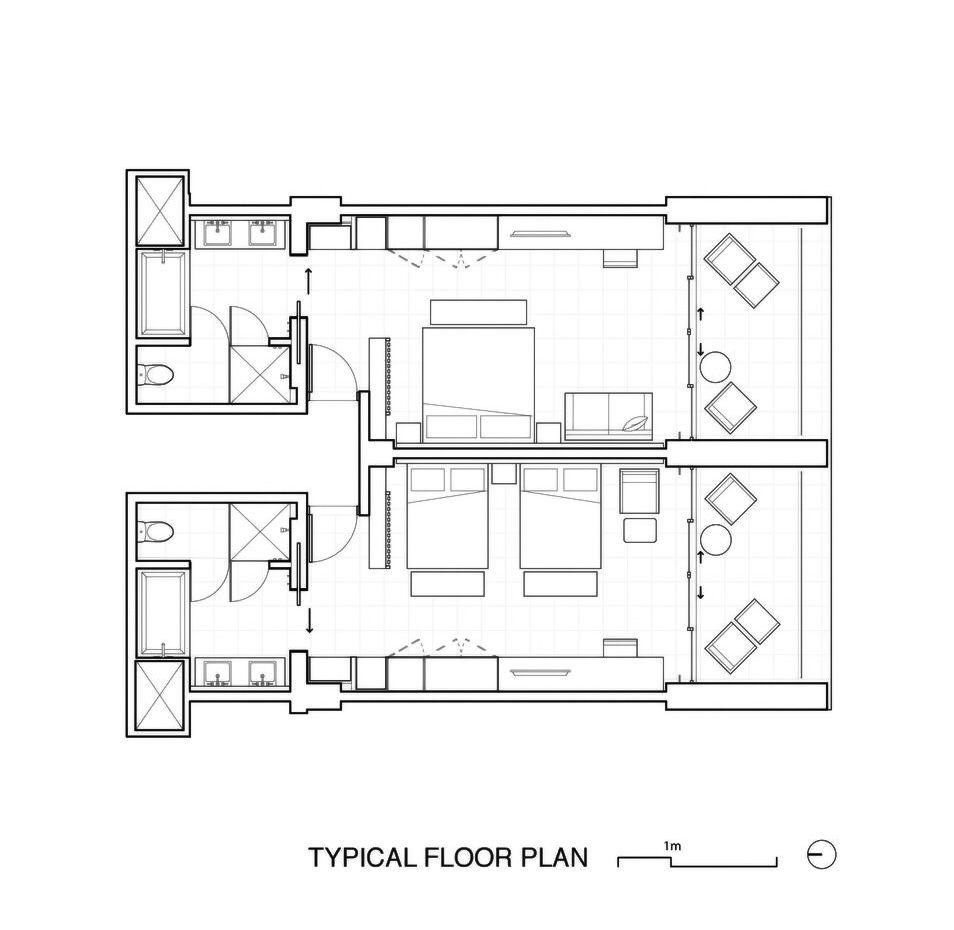 Gallery Of Jw Marriot Los Cabos Beach Resort Spa Olson Kundig 30 Hotel Room Plan Resort Design Plan Hotel Floor Plan