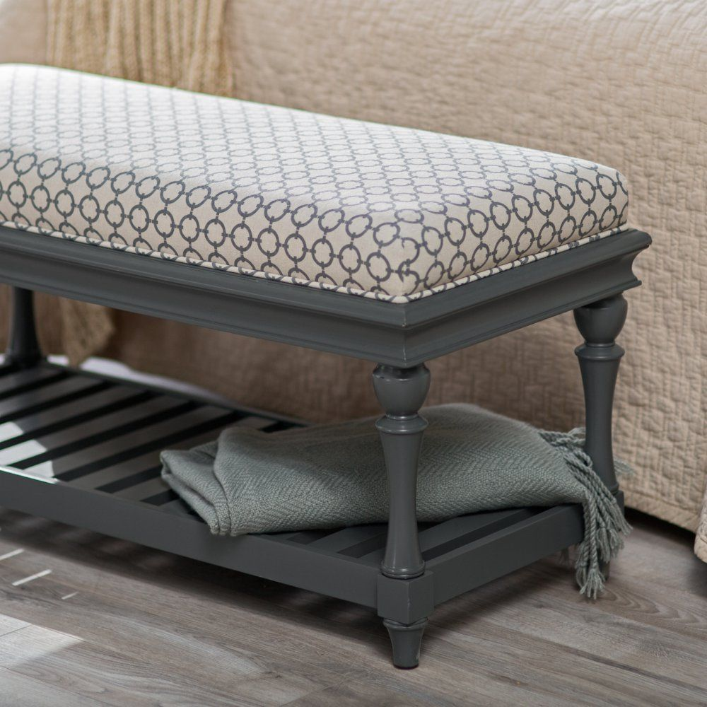 Belham Living Jillian Indoor Bedroom Bench - Delightfully styled and  smartly
