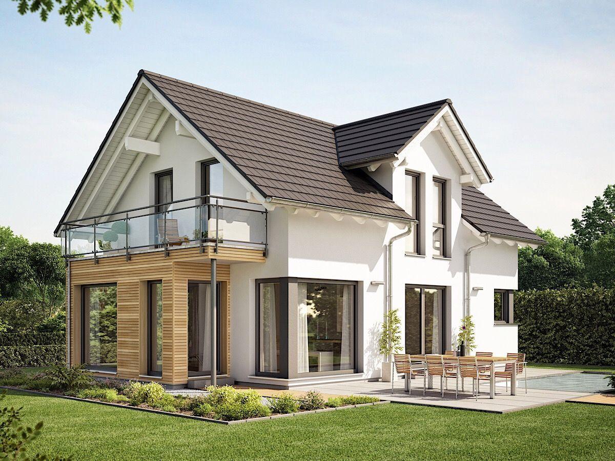 Modernes Satteldach Haus mit Zwerchgiebel, Wintergarten