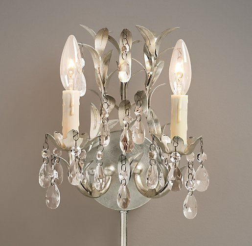 Vintage vine double sconce these would probably be easier to pull vintage vine double sconce these would probably be easier to pull off then a full chandelier aloadofball Image collections