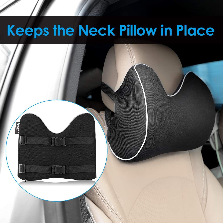 Feagar Car Seat Neck Pillow Memory Foam Headrest Cushion For Driver Head Cervical Support Ergonomic With
