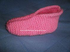 Petits doigts: Chaussons tricotés pour femme