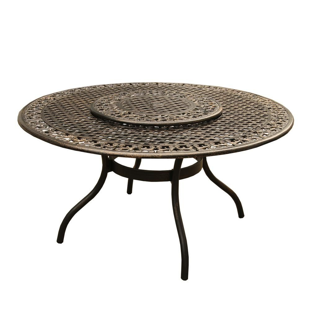 Oakland Living Ornate Traditional 59 In Round Aluminum Outdoor
