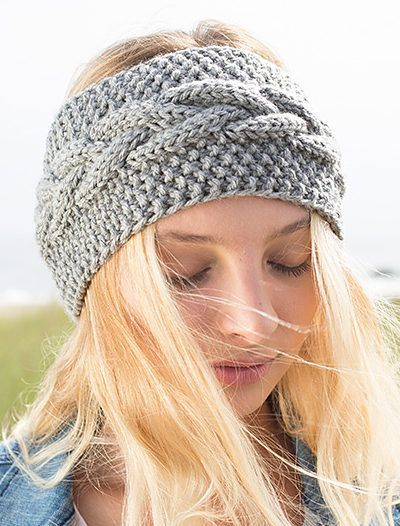Free Knitting Pattern For Calisson Headband Knit Pinterest