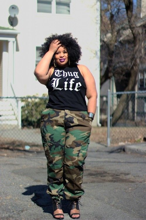 military + hip hop style .#UNIQUE_WOMENS_FASHION