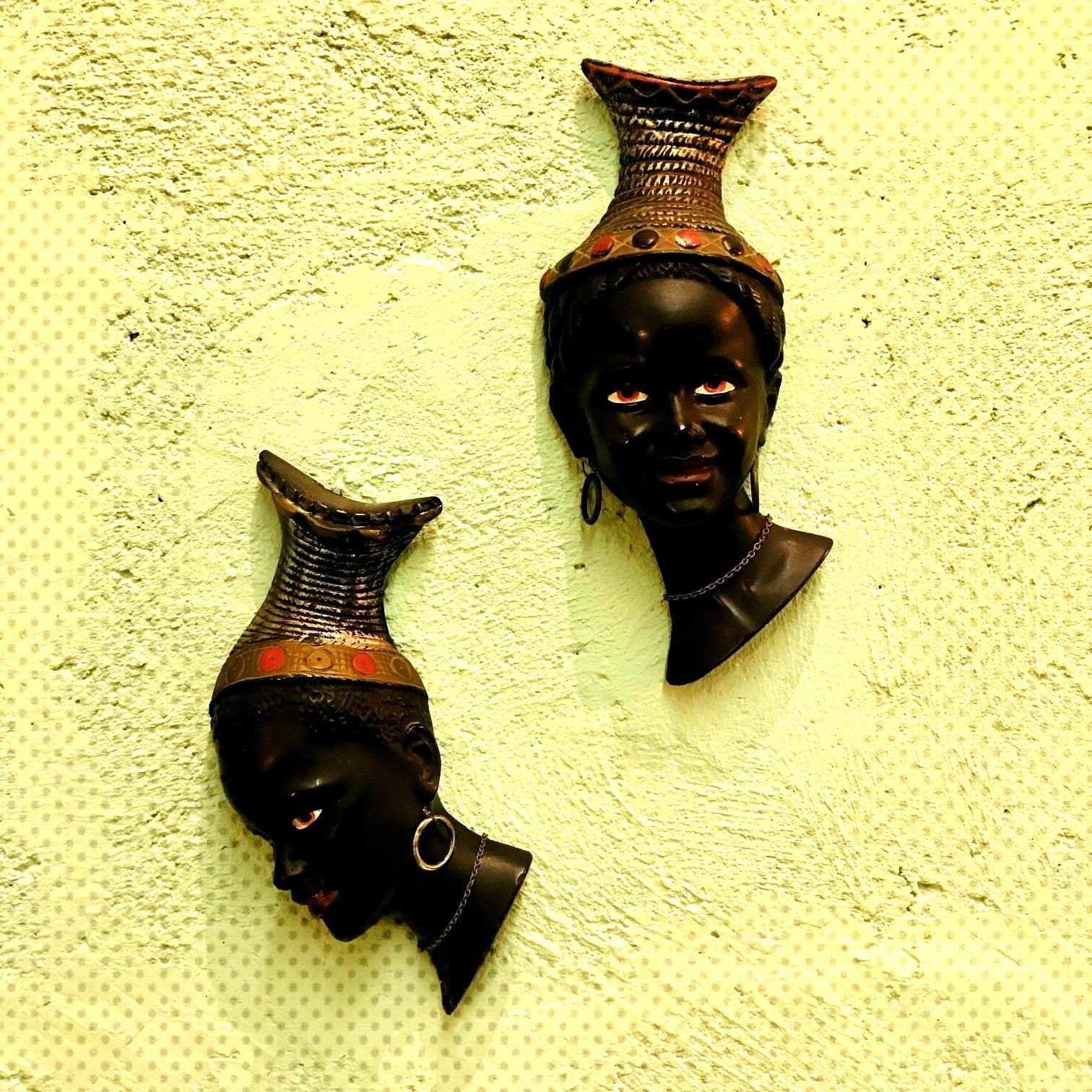 Ceramic Afro Sculptures