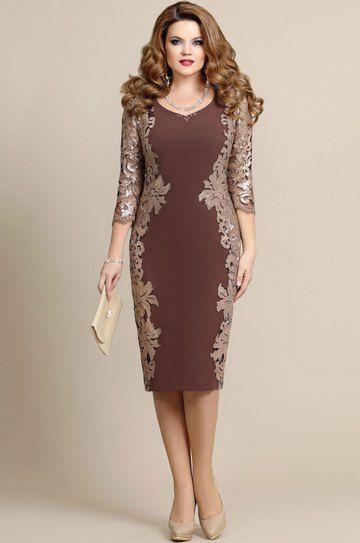 Модель 4175 коричневый Mira Fashion | Платья, Платья ...