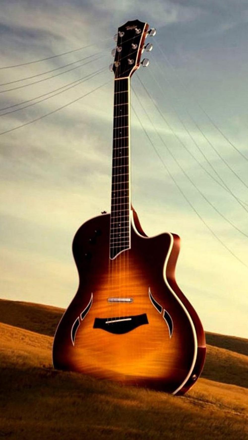 Guitar Hd Wallpaper For Mobile, HD Wallpaper Download di 2020