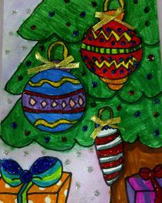 Christmas Tree Elementary Art Christmas Christmas Art