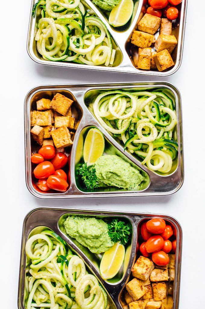 Zucchini Noodles Vegetarian Meal Prep
