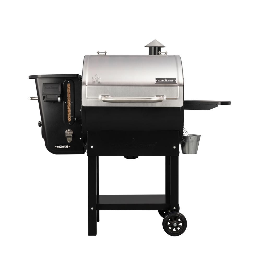 Camp Chef Woodwind Wifi 24 Pellet Grill In Stainless Steel Pg24cl The Home Depot Pellet Grill Camp Chef Wood Pellet Grills