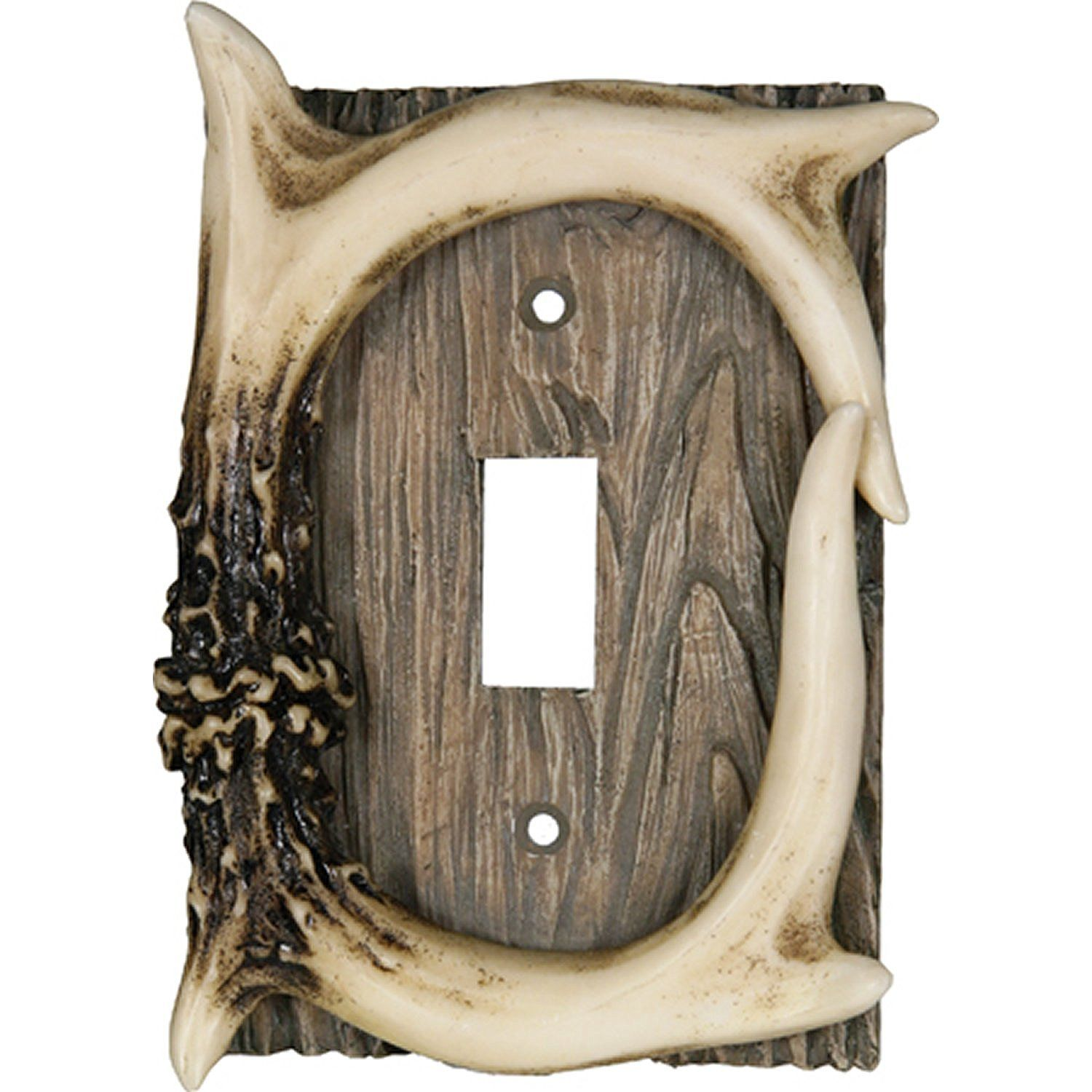 Amazon.com: Rivers Edge Products Deer Antler Single Switch Electrical Cover Plate CVR: Sports & Outdoors