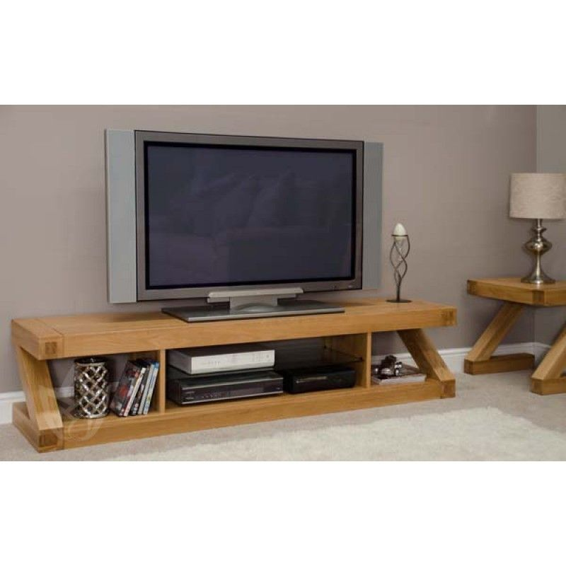 Z-Designer Solid Oak Large Plasma TV Unit   Flat screen tv ... Plasma Unit Design