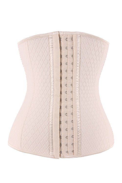 Nude Neoprene Steel Boned Lattice Waist Trainer b2afdbe91
