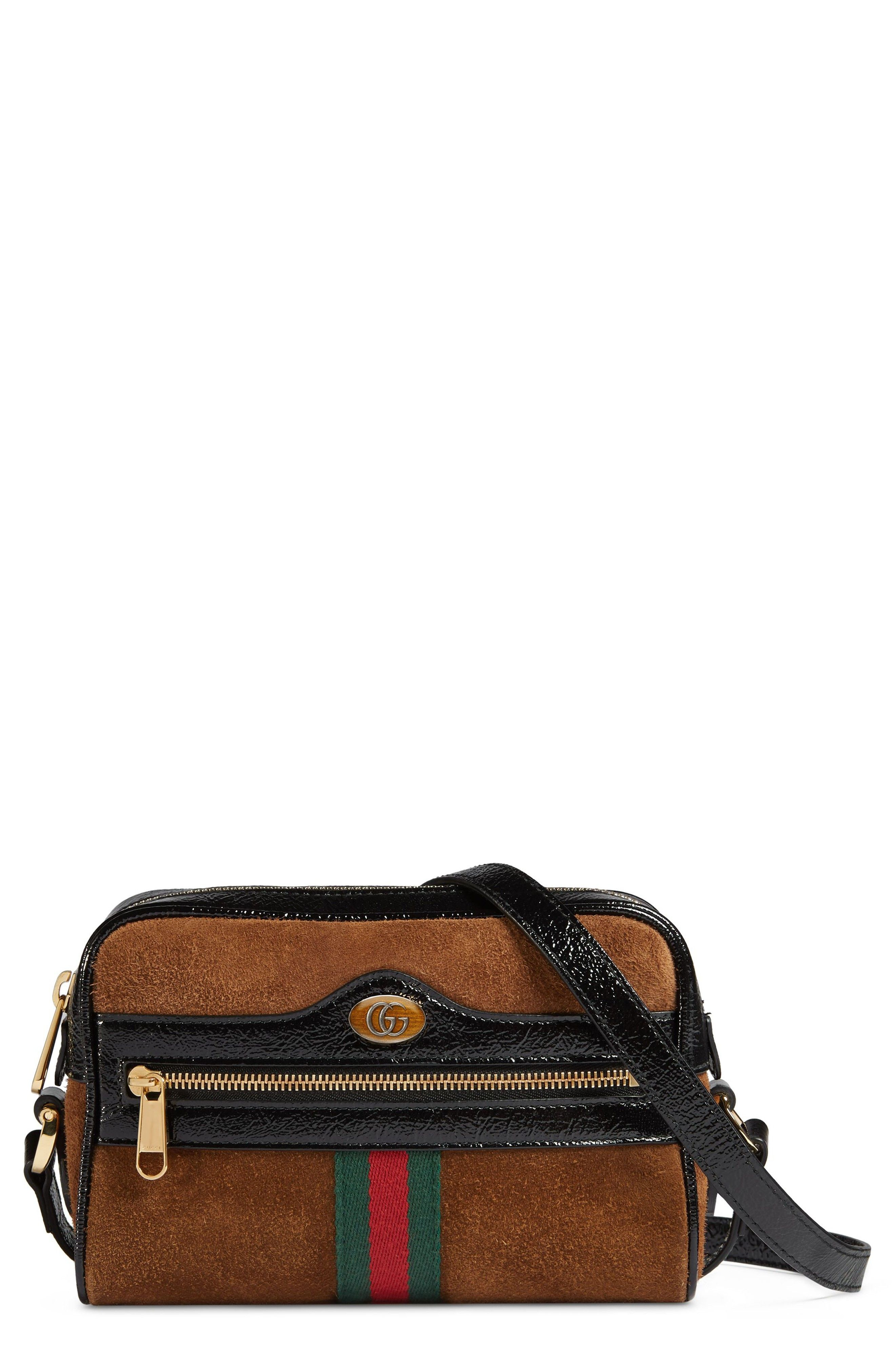 eaeb4c76aaa4 Ophidia Small Suede & Leather Crossbody Bag | Handbags | Leather ...