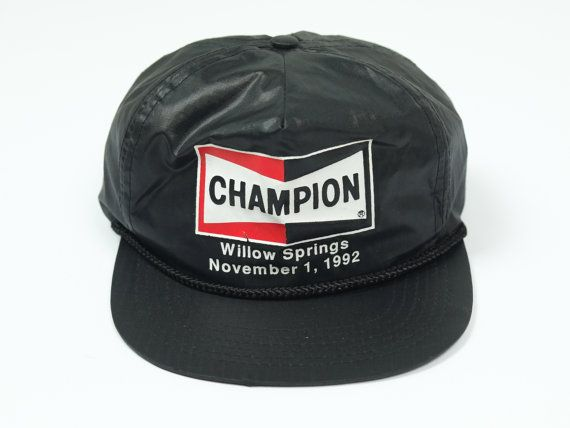2e2aa0a473 Champion Spark Plugs Hat - Vintage Champion Trucker Hat - Vintage ...