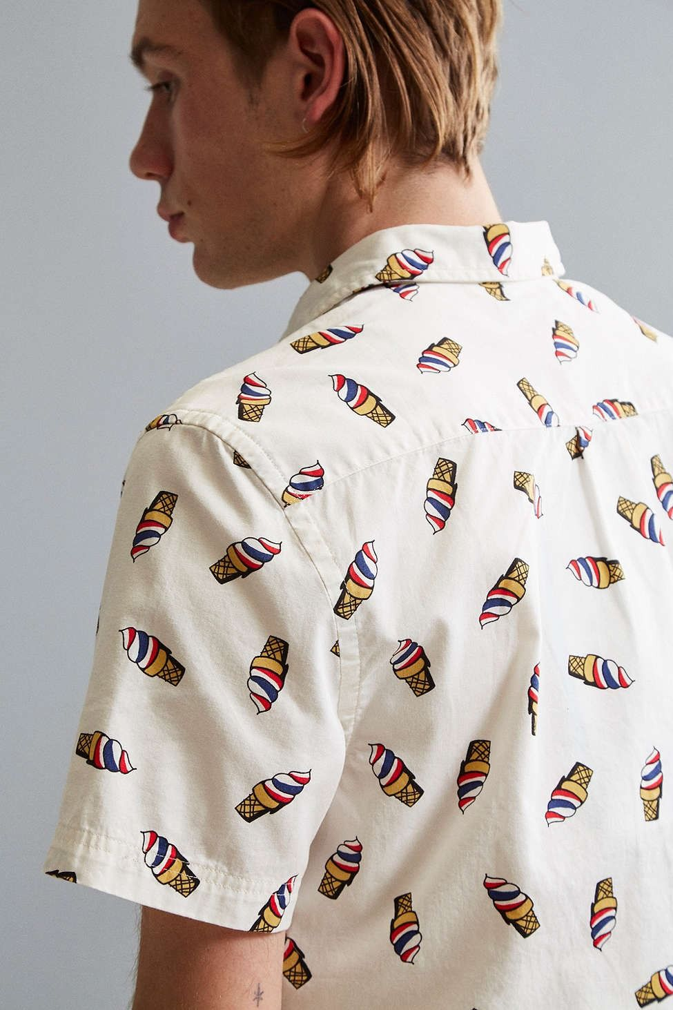 UO Ice Cream Cone Short Sleeve Button-Down Shirt | Ice cream cones ...