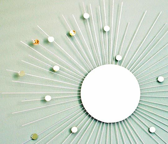 DIY Sunburst Mirror... Fnally a tutorial that makes sense!! :)