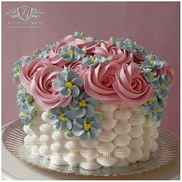 Pretty Spring Cake With Images Cupcake Cakes Buttercream