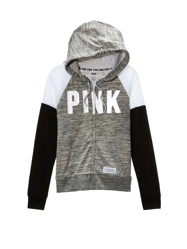20d34a8aec9e5 Perfect Full-Zip Hoodie - PINK - Victoria's Secret ZC-355-226 (6HJ ...