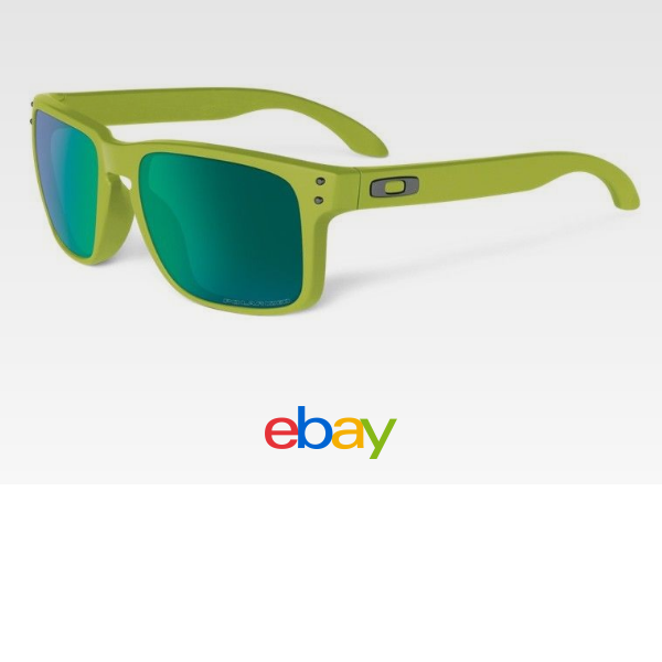 New Oakley Sunglasses Holbrook OO9102-72 Matte Fern Jade Iridium Polarized