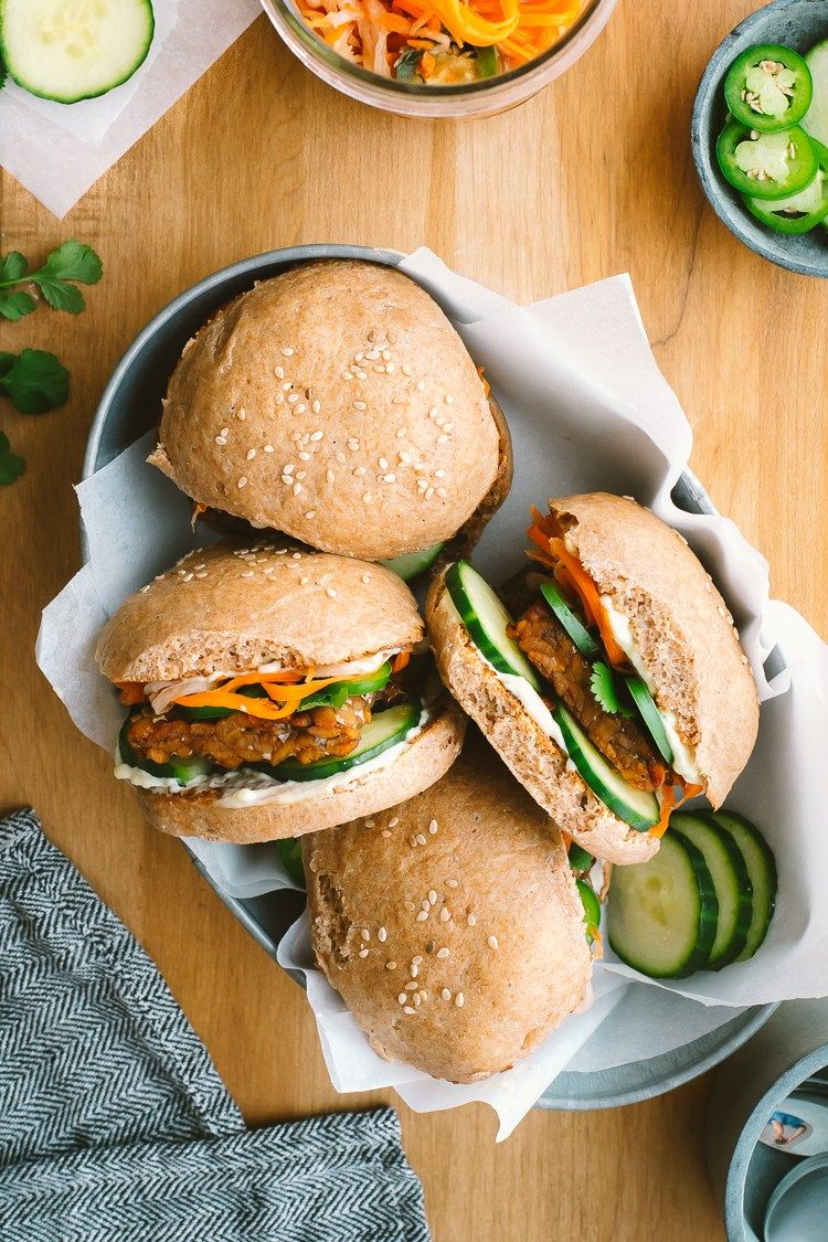 """Bánh Mí Sliders w/ Pickles from """"Ferment Your Vegetables"""" // by Faring Well #vegan #recipe"""