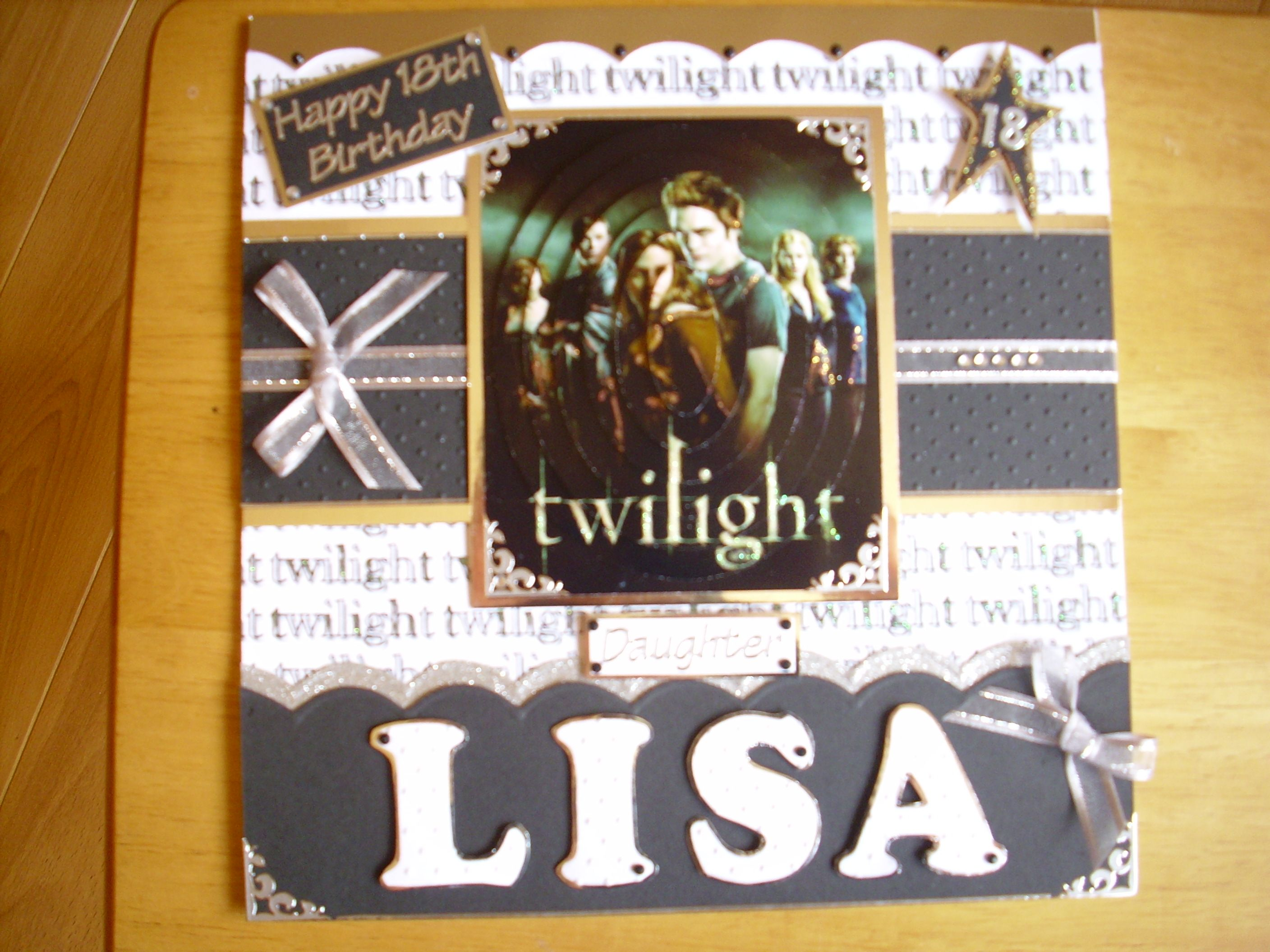 Lisaus twilight th birthday card my handmade cards pinterest