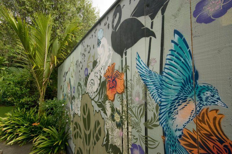 Nz Artist Hayley King Aka Flox With Images Wall Street Art Mural Wall Art Mural Art