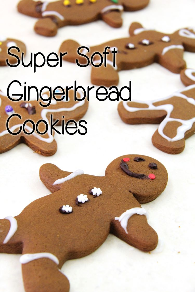 Super Soft Gingerbread Men Cookies — Living the Lovely #gingerbreadcookies
