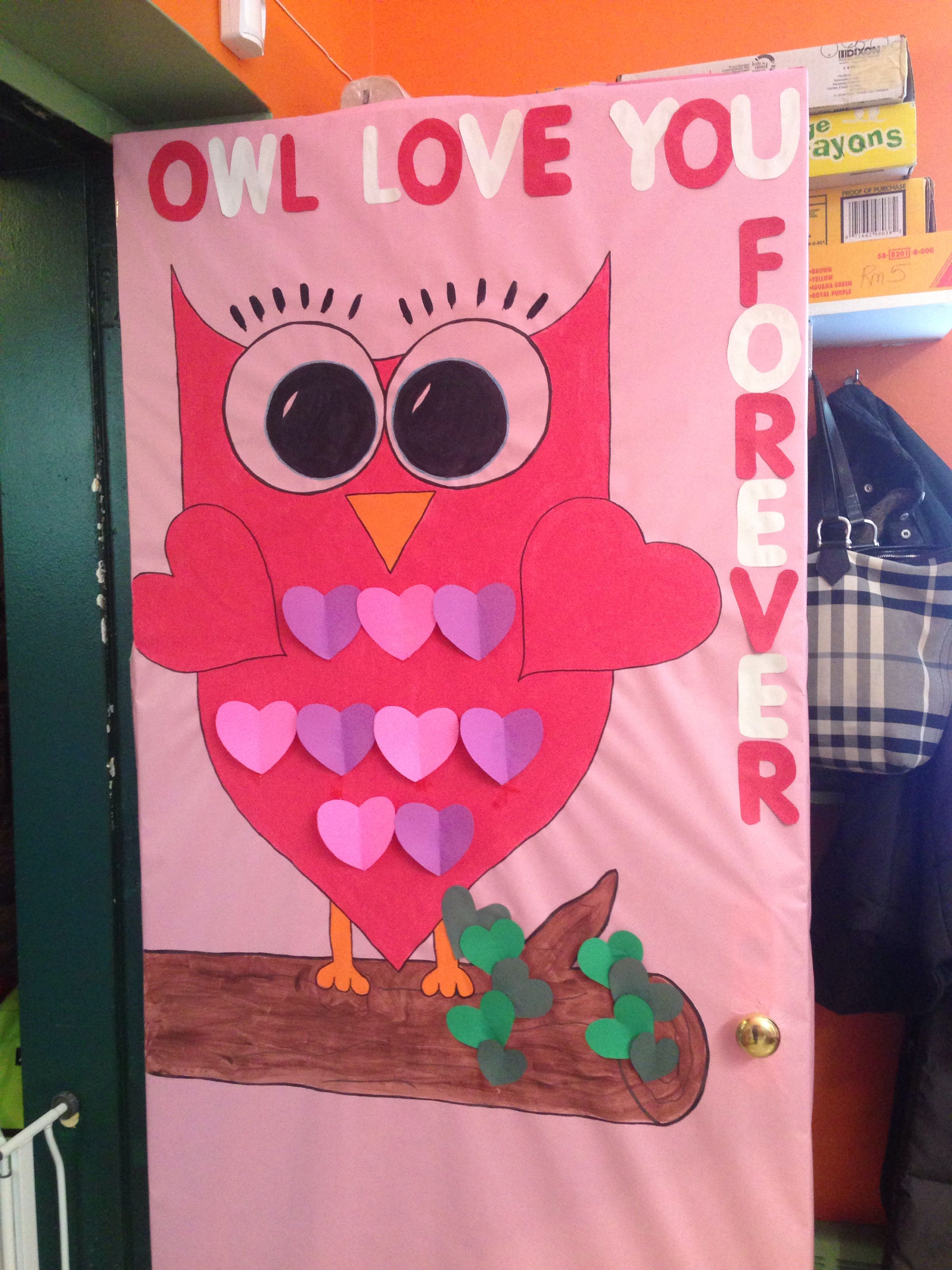 Valentines Day Owl Classroom Bulletin Boards Door Designs