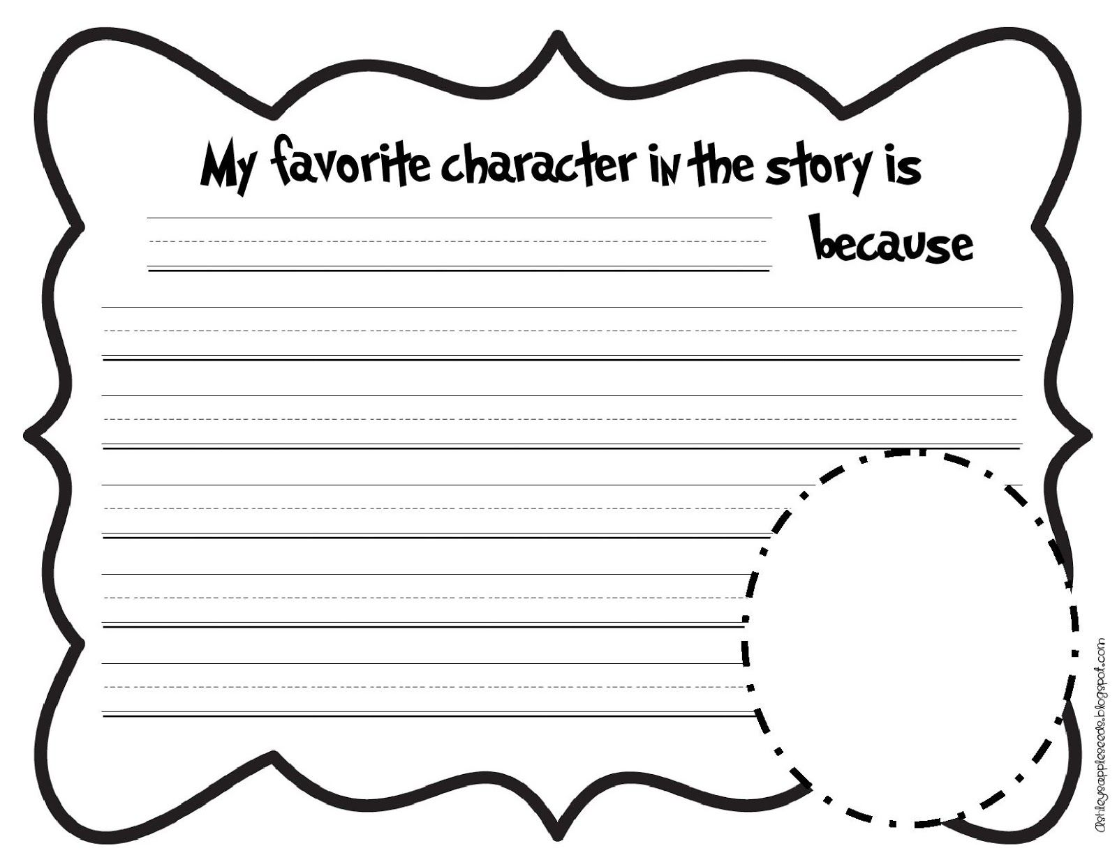 Favorite Character From Dr Suess Writing Prompt From