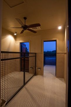 Nice Kennel Fencing For Indoors Plus The Automatic Watering