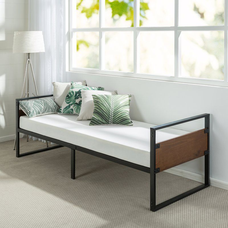 Kilby Narrow Frame Day Bed with Foam Mattress (With images