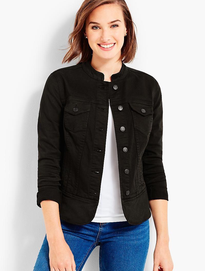 Denim Jacket Black Talbots Clothes Black Denim Jacket Clothes For Women [ 1057 x 800 Pixel ]