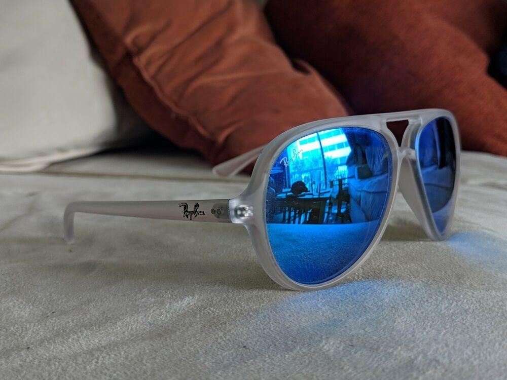 42d99f61b Ray Ban Sunglasses RB 4125 646/17 Matte Trasparent CryGrn Mirror Blue 59MM  #fashion