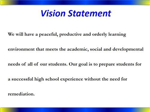 importance of vision and mission statements in schools