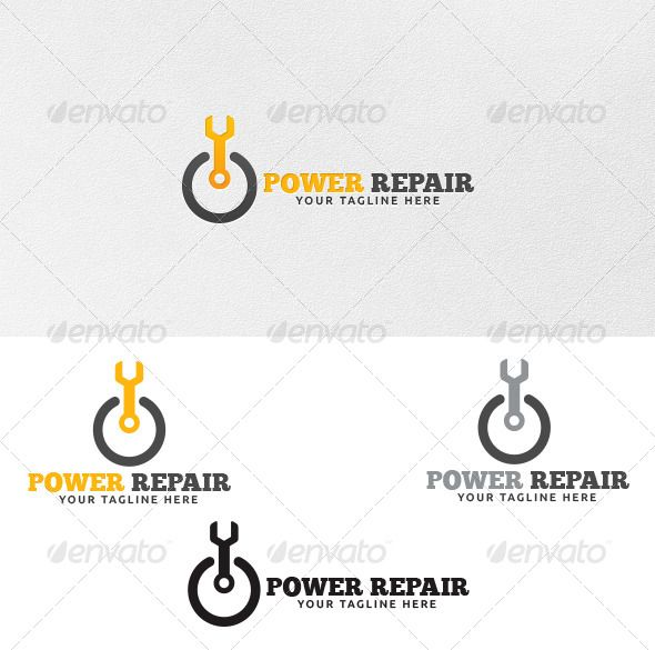 Power Repair  Logo Template  Logo Templates Logos And Vector File