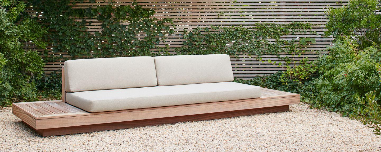 Homenature outdoor platform sofa collection homenature for Diy patio couch