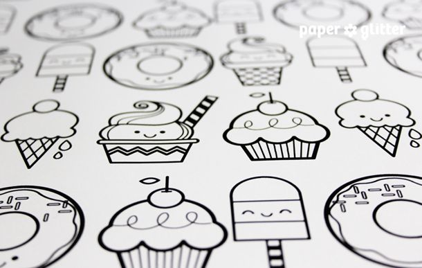Printable Wrapping Paper - Desserts | \Beautiful ...