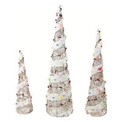 Northlight Pre Lit Candy Covered Rattan Cone Tree Christmas Yard