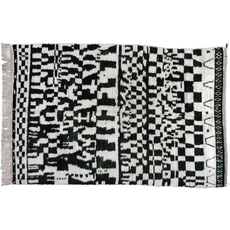 Monochrome Moroccan Rug In Black And White African Rugs Rugs On