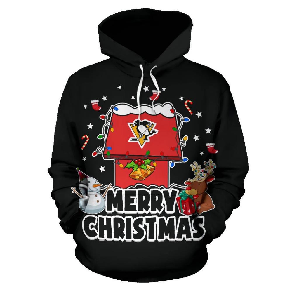 Funny Merry Christmas Pittsburgh Penguins Hoodie 2019