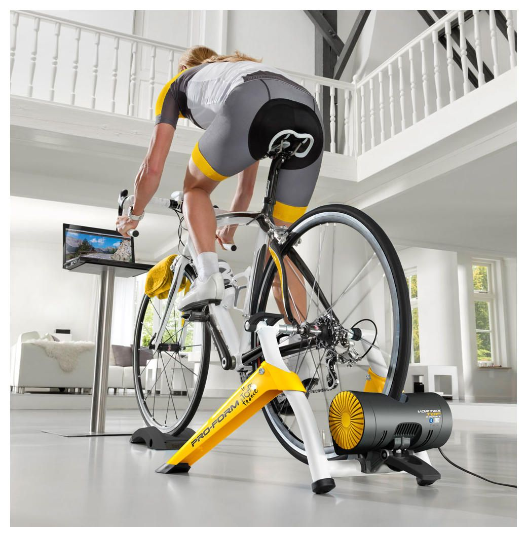 Smart Trainer Cycling Amazon Com: Tacx ProForm Vortex Smart T2180 TDF Edition + Holder For