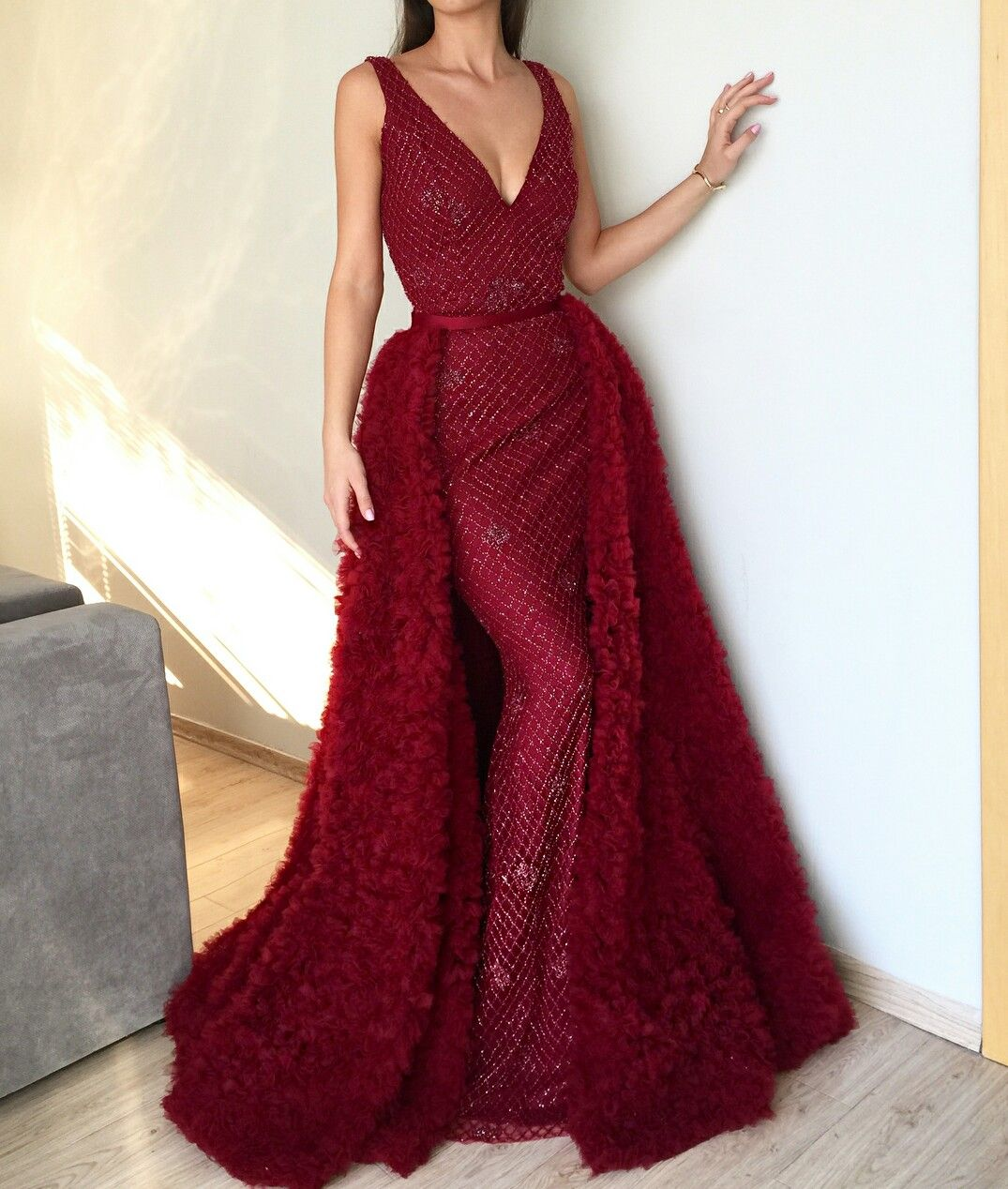 fdc907bcdd0 Beautiful red dress gown Sparkle haute couture Teuta Matoshi Duriqi ...