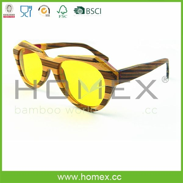 Colorful Wood Frame Sunglasses Sustainable Wooden Shades Homex ...
