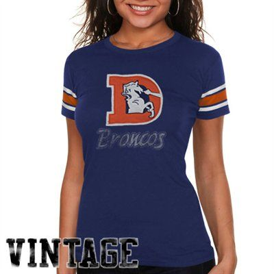750dc4cc Vintage :) '47 Brand Denver Broncos Womens Off Campus T-Shirt - Navy ...