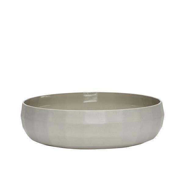 Entzuckend Schale Aus Porzellan Mit Struktur, Grau/taupe .