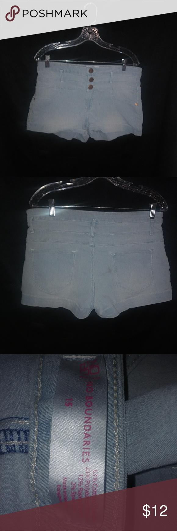 Super Light Blue Jean Shorts Sz 15 Plus Still cute! No Boundaries Shorts Jean Shorts #lightblueshorts Super Light Blue Jean Shorts Sz 15 Plus Still cute! No Boundaries Shorts Jean Shorts #lightblueshorts